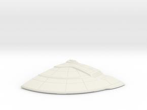 1/1400 Orion Class Left Rear Upper Saucer in White Natural Versatile Plastic