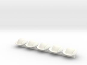 5 x US Civil War T2 in White Processed Versatile Plastic