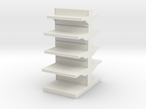 Grocery Shelf  01. 1:24 Scale in White Natural Versatile Plastic