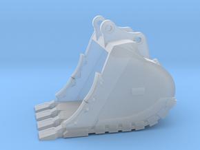 "1:64 64"" Bucket+Spade teeth for 385B/385C in Smooth Fine Detail Plastic"