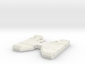 V1W: Axial Capra Trans Skid in White Natural Versatile Plastic