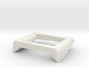 V1W: Dual Servo Mount 78mm in White Natural Versatile Plastic