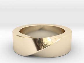 Mobius 1 Ring in 14K Yellow Gold: 10 / 61.5