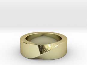 Mobius 1 Ring in 18k Gold: 10 / 61.5