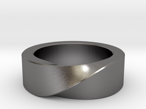 Mobius 1 Ring in Polished Nickel Steel: 10 / 61.5