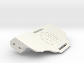 V1W: Small Battery Tray 78mm in White Natural Versatile Plastic