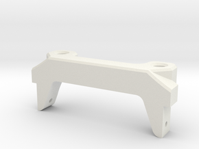V1W: Front Body Mount for Servo on Axle 70MM in White Natural Versatile Plastic