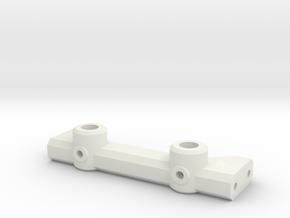 V1W: Rear Body Mount 70mm in White Natural Versatile Plastic