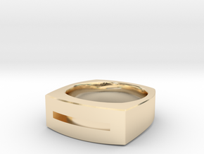 Slot Ring in 14K Yellow Gold: 10 / 61.5