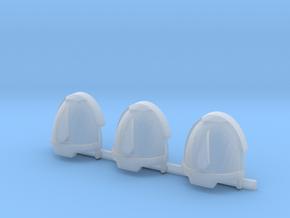 Red Ángeles 1 drop Gravus shoulder pads x3 R #2 in Smooth Fine Detail Plastic