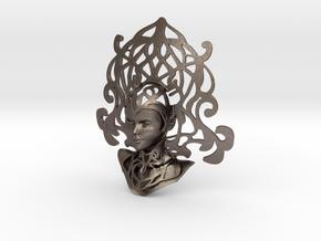 La Dame in Polished Bronzed-Silver Steel