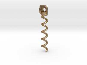 Part 1 Snake Necklace Wine Bottle Opener Corkscrew in Polished Gold Steel