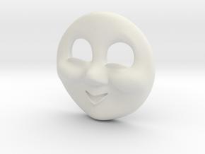 HO Bill & Ben Face #2 - Cheeky in White Natural Versatile Plastic