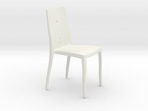 Modern Miniature 1:12 Chair in White Natural Versatile Plastic: 1:12
