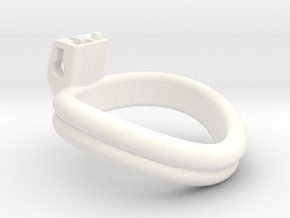 Cherry Keeper Ring - 53mm Double +3° in White Processed Versatile Plastic