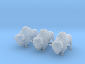 3 O Scale Bison in Smooth Fine Detail Plastic