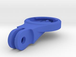 Wahoo Elemnt BMC Mount - Short in Blue Processed Versatile Plastic
