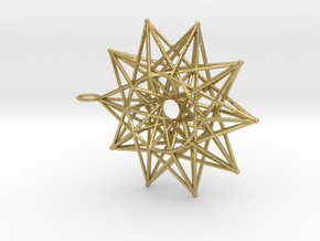 10 pointed toroidally folded star in Natural Brass