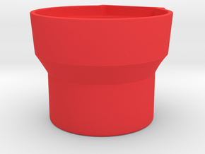 Oversized Cup Holder Insert for Nissan Frontier in Red Processed Versatile Plastic