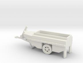 1/160 Scale WCTC-6 Amphibious Trailer in White Natural Versatile Plastic