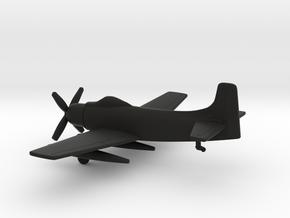 Douglas A-1H Skyraider in Black Natural Versatile Plastic: 1:200