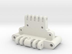 Team Losi XX Front Bulkhead a-1101 in White Natural Versatile Plastic