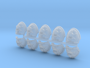 Commission 136 MkXb shoulder pads x10 in Smooth Fine Detail Plastic