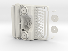1/3 Scale Violet Evergarden Typewriter in White Natural Versatile Plastic