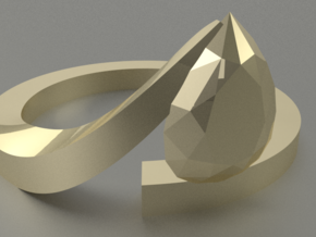 Pear Shaped Diamond Ring in 14K Yellow Gold