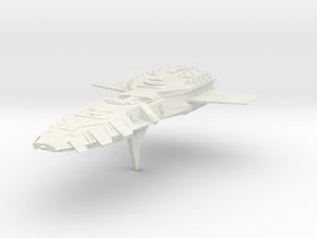 BSG  Battlestar Troop Carrier in White Natural Versatile Plastic