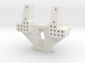Team Losi XX CR and xxt cr rear bulkhead A-2101 in White Natural Versatile Plastic