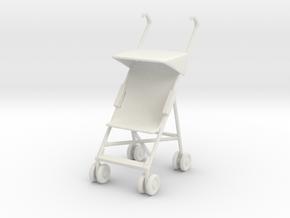 Stroller 1/24 in White Natural Versatile Plastic
