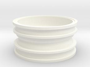 """RIM008-01 Turbine Wheels, 1.9"""" - 2.0"""" in White Processed Versatile Plastic"""