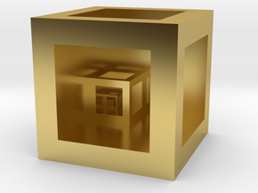 """Cube """"Scale"""" in Polished Brass"""