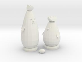 Miniature 1:12 Dollhouse Toys in White Natural Versatile Plastic: 1:12