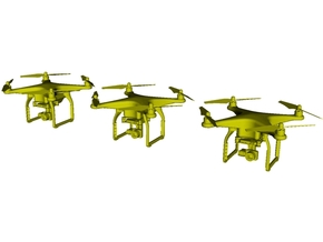 1/64 scale hand-held UAV drone miniatures x 3 in Smoothest Fine Detail Plastic