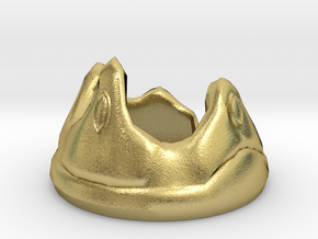 Miniature Crown  in Natural Brass