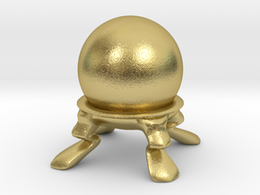 Crystal Ball Miniature in Natural Brass