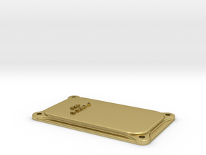 PRR Junction Box Lid in Natural Brass