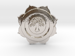 HRIT HRIDAYA SURYA CHAKRA BARTER & TRADE COIN in Platinum