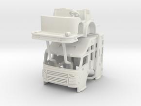 """1/87 Rosenbauer 24"""" Raised Roof UPDATED in White Natural Versatile Plastic"""