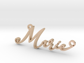 Marie First Name Pendant in 14k Rose Gold Plated Brass