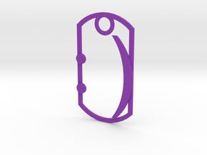 Smilie dog tag in Purple Processed Versatile Plastic