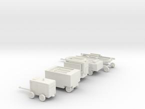 1/87 Scale Ground Support Equipment Set in White Natural Versatile Plastic