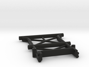 Rear Wing and Bumper mount for Exo Terra Buggy in Black Natural Versatile Plastic