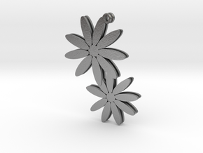 Daisy earrings - 1 pair in Natural Silver