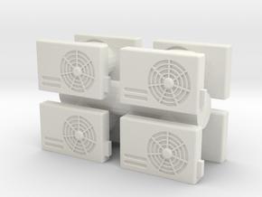 Air Conditioning Unit (x8) 1/48 in White Natural Versatile Plastic