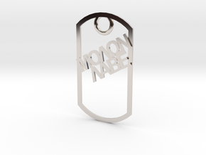 Molon Labe dog tag in Platinum