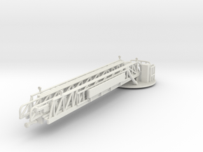 1/87 Rear Mount Ladder Boom (Piped) in White Natural Versatile Plastic