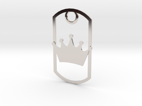 Crown dog tag in Platinum